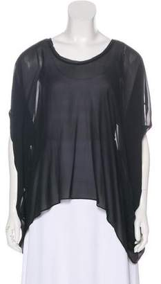 Helmut Lang Short Sleeve Sheer Top