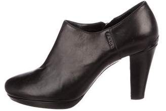 Prada Sport Leather Round-Toe Booties
