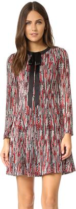 alice + olivia Gwyneth Tie Neck Flare Dress $350 thestylecure.com