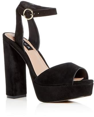 Aqua Women's Mardi Suede High-Heel Platform Sandals - 100% Exclusive