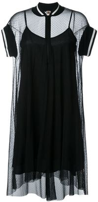 I'M Isola Marras shortsleeved sheer tulle dress