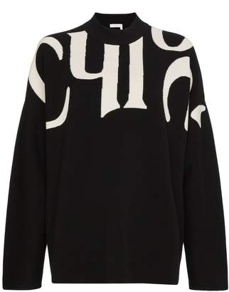 Chloé logo intarsia long sleeve jumper