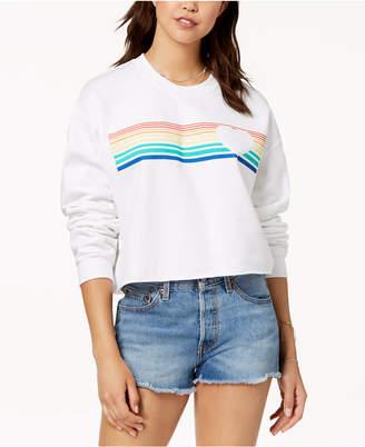 Hybrid Love Tribe Juniors' Rainbow Graphic-Print Sweatshirt