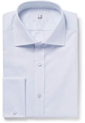 Dunhill Blue Checked Cotton Shirt - Men - Blue