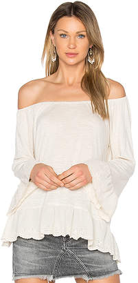 Sanctuary Juliette Off Shoulder Top in Beige $69 thestylecure.com