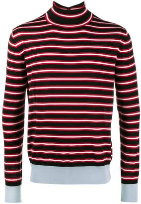 Marni Striped roll neck jumper
