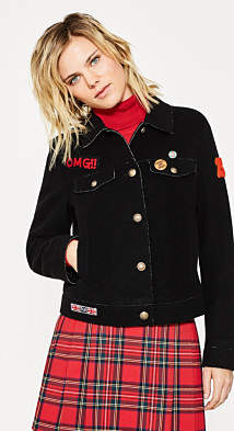 Esprit Wool felt jacket with punk styling