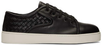 Bottega Veneta Black Intrecciato Dodger Sneakers