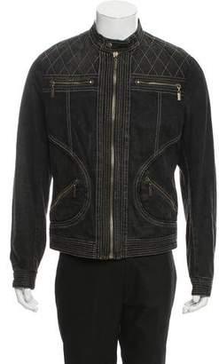 Just Cavalli Denim Moto Jacket