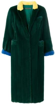 Simonetta Ravizza Rock colour block coat