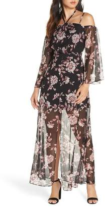 Ali & Jay Forever Floral Cold Shoulder Maxi Dress
