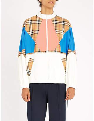 Burberry Checked shell windbreaker jacket