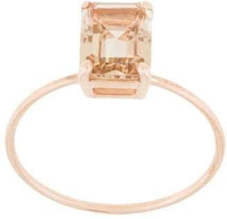 Natalie Marie 9kt rose gold champagne quartz ring