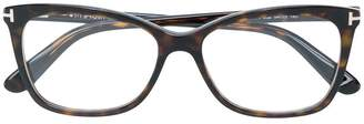 Tom Ford square clip-on glasses