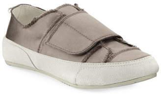 Pedro Garcia Palmira Satin Grip-Strap Sneakers, Truffle