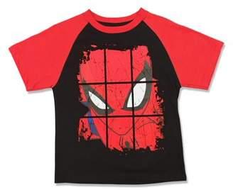 Spiderman Spider Man Marvel Short Sleeve Raglan Tee Shirt (Little Boys)