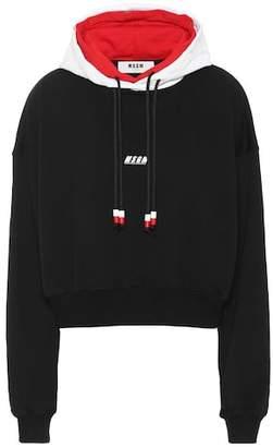 MSGM Cotton logo hoodie