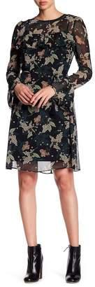 Donna Morgan Chiffon Ruffle Dress