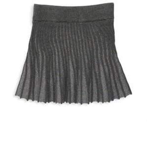 Milly Minis Little Girl's& Girl's Metallic Godet Skirt