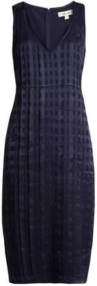 Diane von Furstenberg V-neck sleeveless textured-satin dress