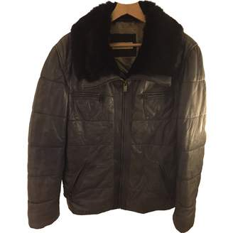 Oakwood Blue Leather Coat for Women