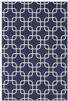 Loloi Rugs Geo Collection Navy and Ivory