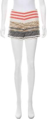 Edward Achour Textured Mini Shorts