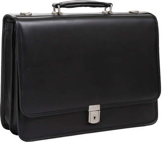 McKlein McKleinUSA Lexington 15.6 Leather Flapover Double Compartment Briefcase