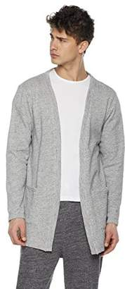 Rebel Canyon Men's Open Front Longline Cotton Sweatshirt Cardigan (
