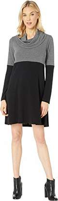 Karen Kane Women's Cowl Neck Colorblock Dress