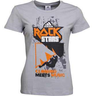 adidas Womens Rock Stars Short Sleeve T-Shirt Clear Onix