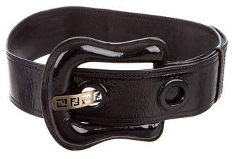 Fendi Fendi Patent Leather Wide Belt