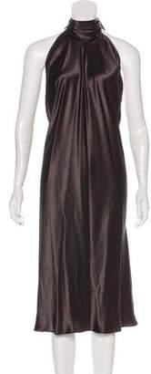 Dolce & Gabbana Fringe-Trimmed Silk Dress