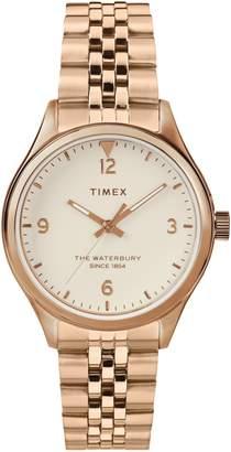 Timex R) Waterbury Bracelet Watch, 34mm