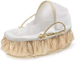 Badger Basket Moses Basket with Fabric Canopy