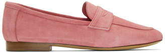 Mansur Gavriel Pink Suede Classic Loafers