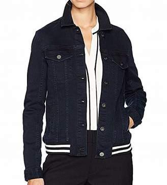 Calvin Klein Jeans Women's Denim Tipped Rib Hem Trucker Jacket