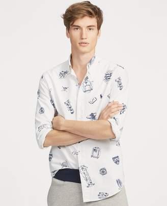 Ralph Lauren Classic Fit Print Oxford Shirt