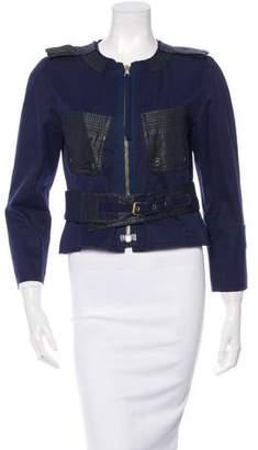 Marc Jacobs Long Sleeve Leather Trim Jacket