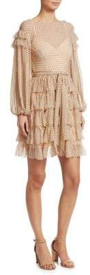 Zimmermann Painted Heart Silk Mini Dress