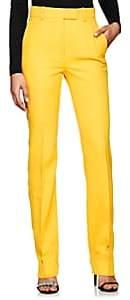 Calvin Klein Women's Virgin Wool Twill Trousers - Yellow
