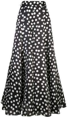 Carolina Herrera polka dot palazzo trousers