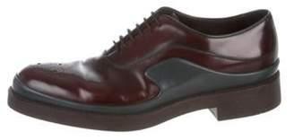 Prada Leather Two-Tone Oxfords Leather Two-Tone Oxfords
