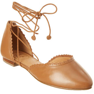 Jack Rogers Camille Leather Flat