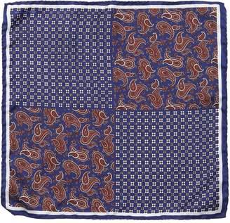 Tagliatore Floral Paisley Silk Twill Pocket Square