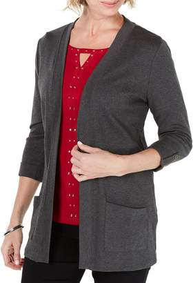 Karen Scott Classic Pocket Cardigan