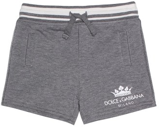 Dolce & Gabbana Baby cotton-blend shorts