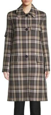 Helmut Lang Classic Plaid Trench Coat
