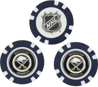 Buffalo David Bitton Team Golf Sabres 3-Pack Poker Chip Golf Markers
