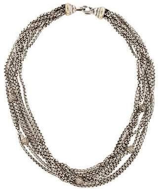 David Yurman Diamond Multi-Strand Necklace